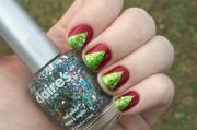 easy christmas tree nail art design