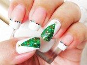easy christmas tree nail art design