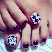 easy & cute toe nail art design