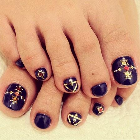 Easy & Cute Toe Nail Art Designs & Ideas 2013/ 2014 For