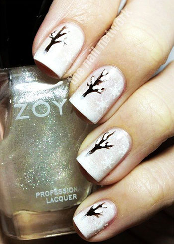 Inspiring Winter Nail Art Designs & Ideas For Girls 2013