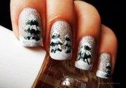 simple & easy christmas tree nail