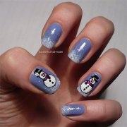 cute & easy snowman nail art design
