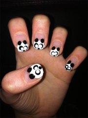 cute panda nail art design & ideas