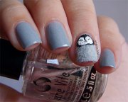 easy & cute penguin nail art design