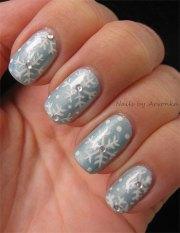 easy & simple snowflake nail art
