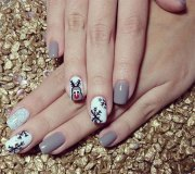 easy & simple winter nail art 2013