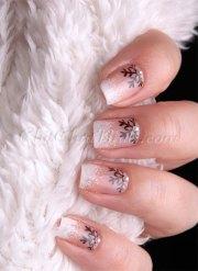 easy & simple winter nail art 2013