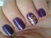 elegant snowflake nail art design