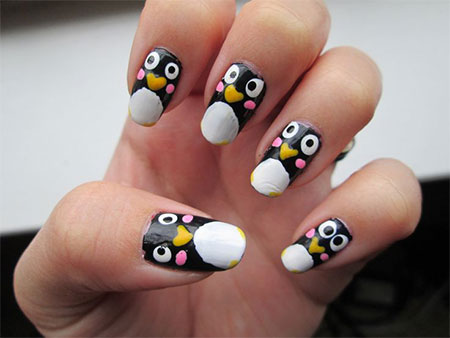 Simple Penguin Nail Art Designs Ideas 2017 Fabulous