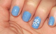 easy winter nail art design