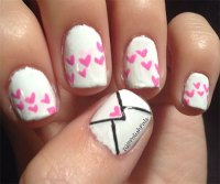 Amazing Love Letter Nail Art Designs & Ideas 2014 ...
