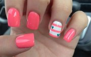 cute little heart nail art design
