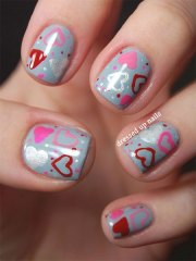 elegant heart nail art design