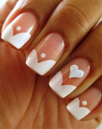 Simple Heart Tip Nail Art Designs & Ideas For Valentine's ...