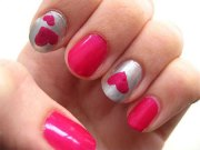 simple valentine's day nail art