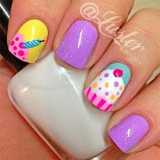 awesome happy 'day cake nail