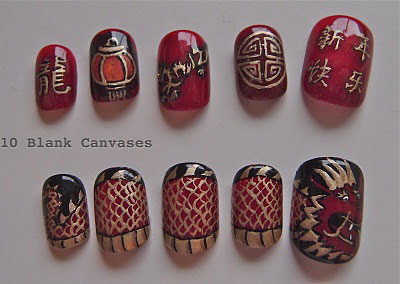 10 Ideas For Chinese New Year Nail Art 2016 Shue