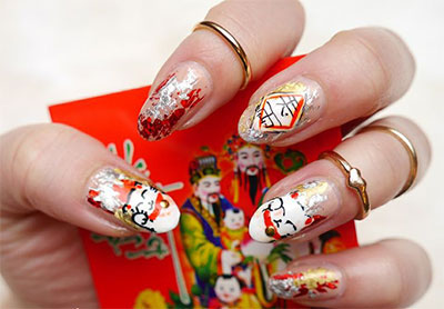 Amazing Chinese New Year Nail Art Designs Ideas