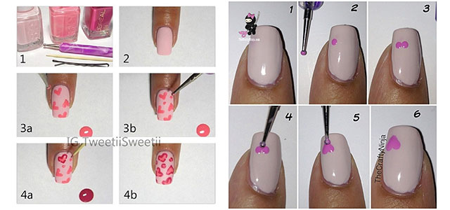 Amazing Valentines Day Nail Art Tutorials 2017 For