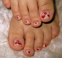 Cute Valentine's Day Toe Nail Art Designs & Ideas 2014 ...