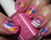 easy birthday nails design & ideas