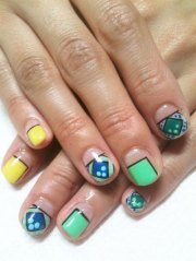elegant chinese nail art design