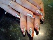 elegant chinese nail art design