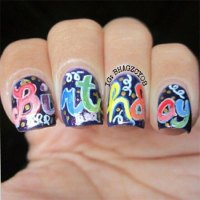 Happy Birthday Nail Art Designs & Ideas 2014 | Fabulous ...