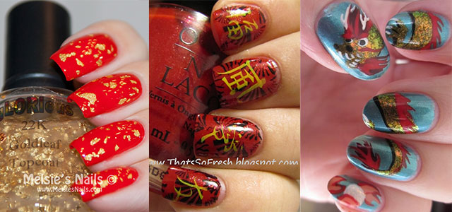 Inspiring Chinese New Year Nail Art Designs Ideas 2017