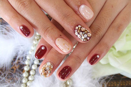 Simple Red Wedding Nail Art Designs  Ideas 2014  Fabulous Nail Art Designs
