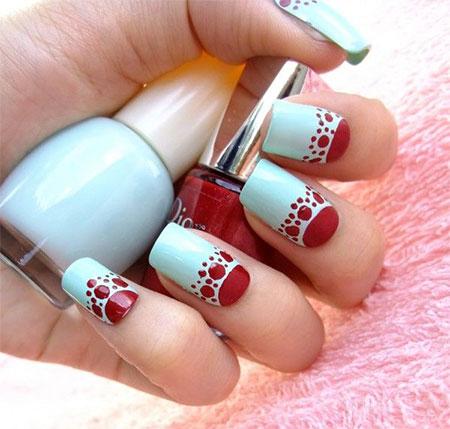 Simple Red Wedding Nail Art Designs Ideas 2017