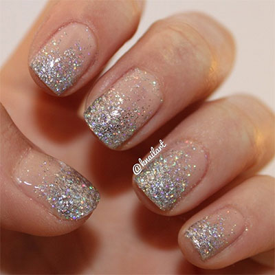 Nail Art Designs With Glitter Step By