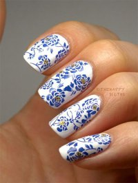 Stunning Chinese Symbol & Flower Nail Art Designs & Ideas ...