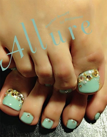 Wedding Toe Nail Art Designs Ideas 2017 2