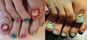 wedding toe nail art design &