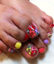 cool spring toe nail art design