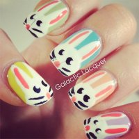 Simple Easter Bunny Nail Art Designs & Ideas 2014 For ...