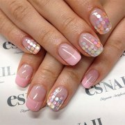 simple spring nail art design