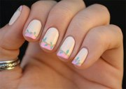simple spring nail art design