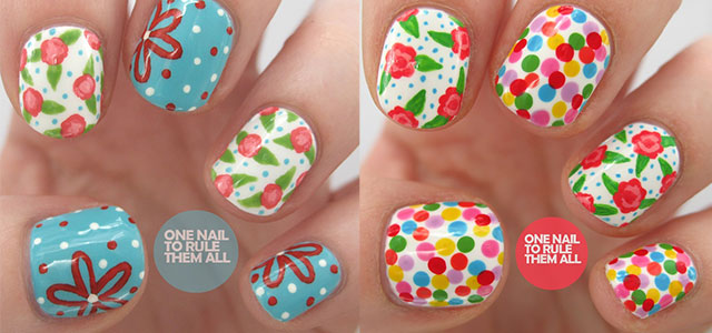 Spring Nail Art Designs With Flower
