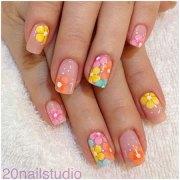 spring inspired nail art design