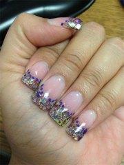 acrylic nail art design
