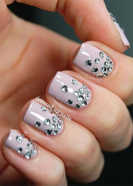 Rhinestone Acrylic Nail Designs
