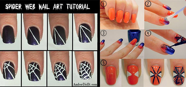 Easy Spiderman Nail Art Tutorials For Beginners Learners 2017 Fabulous Designs
