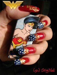 12 + Easy Wonder Woman Nail Art Designs, Ideas, Trends ...
