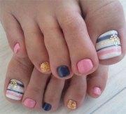 summer themed toe nail art