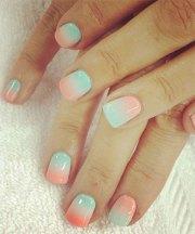 cute pink summer nail art design