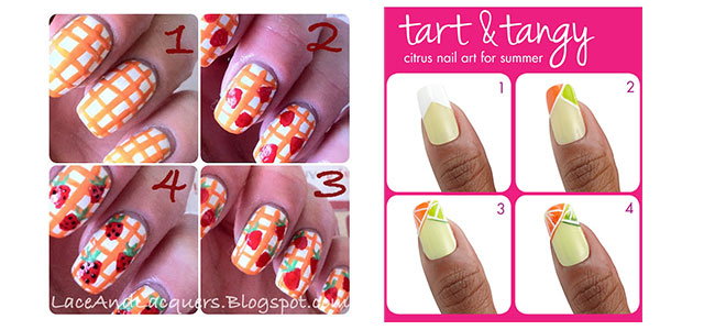 15 Easy Summer Inspired Nail Art Tutorials For Beginners Learners 2017 Fabulous Designs