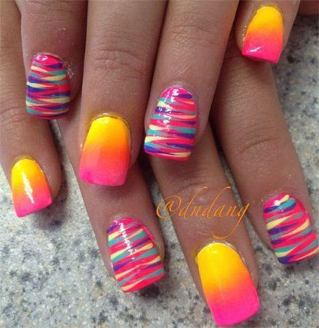 Pretty Summer Nail Art Design